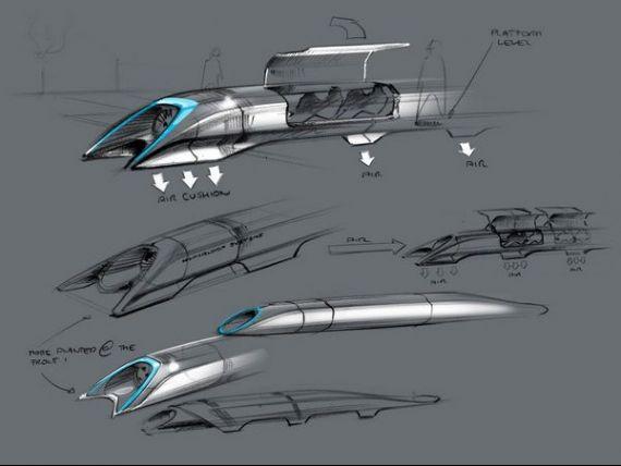Hyperloop, revolutia din transport. Capsule metalice, incarcate cu pasageri sau masini, care vor circula cu viteze de 1.300 km/h. Ruta San Francisco - Los Angeles in 30 minute