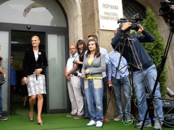 Ramona Manescu a preluat Transporturile. Ponta: Luni, chemati castigatorul licitatiei CFR Marfa si semnati contractul!