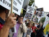 Sute de persoane au manifestat, la Paris, impotriva unei actiuni militare in Siria