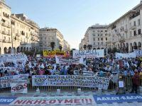 Grecii isi striga din nou saracia in strada. Peste 17.000 de persoane au protestat fata de masurile de austeritate