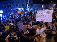 Bulevardul Regina Elisabeta, blocat in a 14-a zi de proteste la Universitate