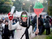 A 5-a saptamana de proteste in Capitala. 7.000 de oameni au marsaluit impotriva Rosia Montana