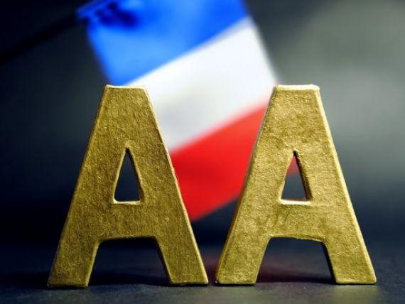 A doua putere a zonei euro paraseste grupul select  AAA . S P a taiat ratingul Frantei cu o treapta