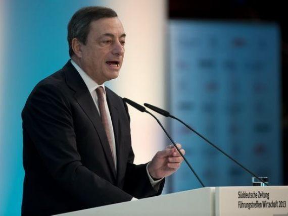 Draghi: Mentinerea dobanzilor la un nivel scazut implica riscuri analizate cu atentie de catre BCE