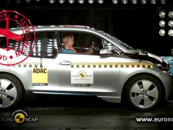 BMW a vazut stele verzi in loc de 5 stele. Masina-vedeta in 2013 a iesit prost la crash testul Euro NCAP. VIDEO
