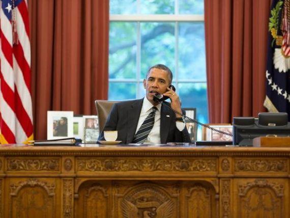 Barack Obama admite ca nu are voie sa detina un iPhone. Ce telefon are cel mai puternic om al planetei