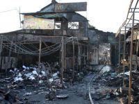Incendiu puternic in Piata Rahova, stins dupa 5 ore