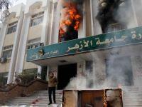 Violente la Cairo. Simpatizanti ai miscarii Fratii Musulmani au incendiat o cladire a Universitatii