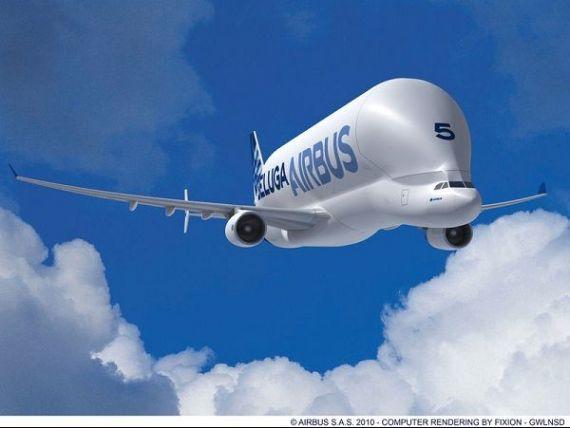 In interiorul celui mai ciudat obiect zburator din lume. Ce este Beluga si pentru ce il foloseste Airbus. FOTO