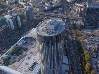 """Cum se vede din elicopter """"Canary Wharf""""-ul Bucurestiului, zona in care investitorii pompeaza un miliard de euro"""