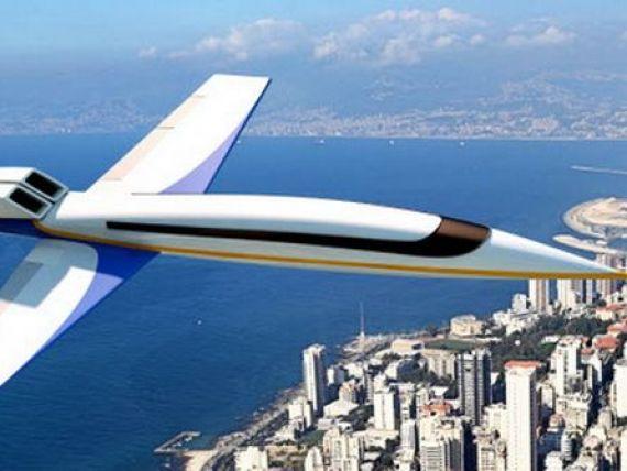 Avionul supersonic ar putea fi lansat in 4 ani. Zboara de 2 ori mai repede decat orice aeronava, nu are ferestre si e dotat cu ecrane de ultima generatie. GALERIE FOTO