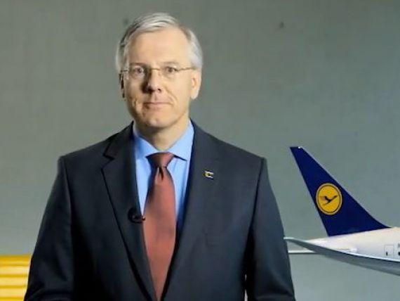 Premiera in istoria companiilor din Germania. Ce a transmis CEO-ul Lufthansa pasagerilor intr-un mesaj postat pe YouTube. VIDEO