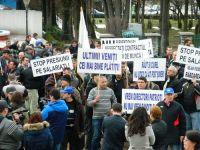 Protest la Targu Jiu, vizavi de restructurarile Complexului Energetic Oltenia