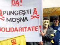 2.000 de persoane protesteaza fata de explorarea si exploatarea gazelor de sist, la Arad