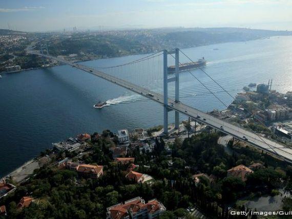 Primul tunel rutier intercontinental a fost inaugurat la Istanbul. Are doua niveluri si leaga Europa de Asia pe sub Stramtoarea Bosfor, la 106 metri adancime