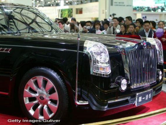 Cum arata luxul comunist de la Beijing. Cea mai scumpa masina fabricata in China s-a vandut la pretul unui Ferrari FF