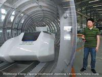 Chinezii construiesc cel mai rapid tren din lume. Va atinge 2.900 km/ora si va parcurge distanta dintre Paris si Moscova intr-o ora