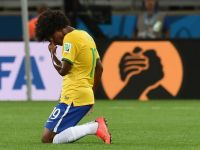 Un site din Belgia scrie ca un olandez a castigat 1,3 mil. euro, pariind pe scorul de 1-7 la meciul Brazilia - Germania. L'Express: Nu exista niciun castigator la pariuri cu rezultatul corect