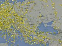 Vezi in timp real traficul aerian de deasupra Europei. Cea mai aglomerata noapte pe cerul Romaniei. ROMATSA confirma o crestere de trafic de 25-30%
