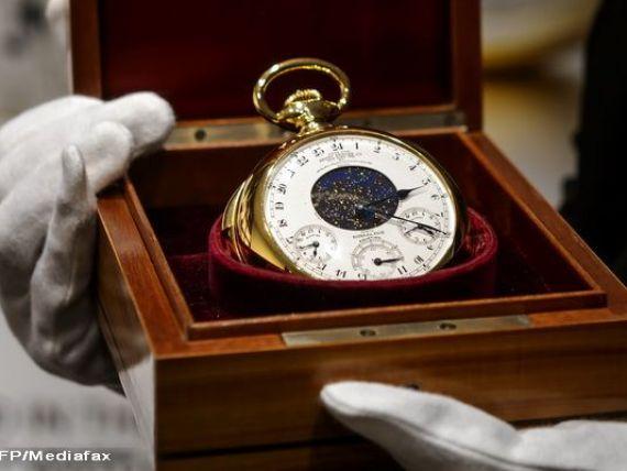 Cel mai scump ceas din istorie.  Graves , creat de Patek Philippe in anii  30, vandut cu pretul record de 24 mil. dolari. Este capabil de operatiuni cu cel mai mare grad de complexitate din lume