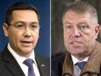 Votul prin corespondenta, retrocedarile de la Sibiu si coruptia, subiecte de disputa intre Ponta si Iohannis, la a doua confruntare a candidatilor la Presedintie