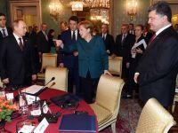 Liderii UE ameninta Rusia cu noi sanctiuni economice, pe fondul armistitiului muribund din Ucraina. Putin, pionul principal in calmarea separatistilor din est