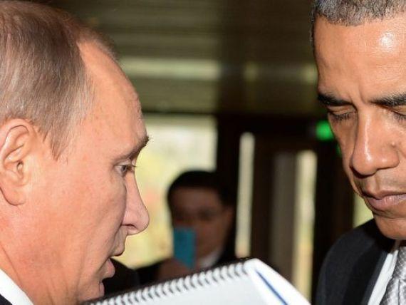 Obama il ironizeaza pe Putin: Nu este un  maestru al sahului .  El este capul prabusirii monedei sale, unei crize financiare majore si unei contractii economice enorme