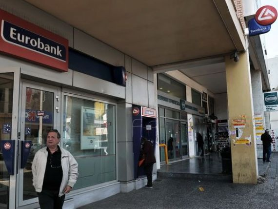Eurobank si Alpha Bank au probleme de lichiditate. Cele doua banci, prezente si in Romania, au cerut bancii centrale din Grecia acces la linia de finantare de urgenta