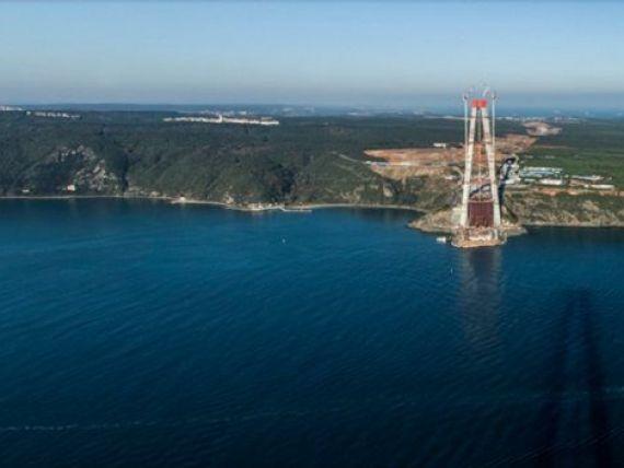 Romania ajuta la construirea celui mai mare pod rutier din lume. Cum se ridica un gigant de 3 mld. de dolari, care va lega Europa de Asia peste stramtoarea Bosfor