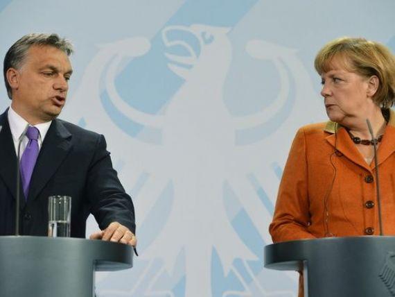 Tensiuni intre Angela Merkel si Viktor Orban, in timpul vizitei la Budapesta. Cancelarul german incearca sa tina Ungaria departe de Vladimir Putin