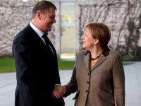 """Iohannis, primit de Angela Merkel si Joachim Gauck. """"Germania nu e doar principalul partener economic al Romaniei, dar si partener in UE"""". Presedintele conteza pe sprijinul Berlinului pentru Schengen"""