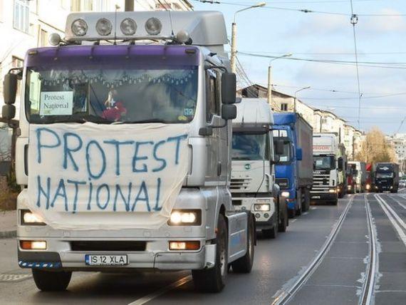 Transportatorii vor protesta la ambasadele Frantei si Germaniei fata de salariul minim aplicat soferilor care tranziteaza cele doua tari