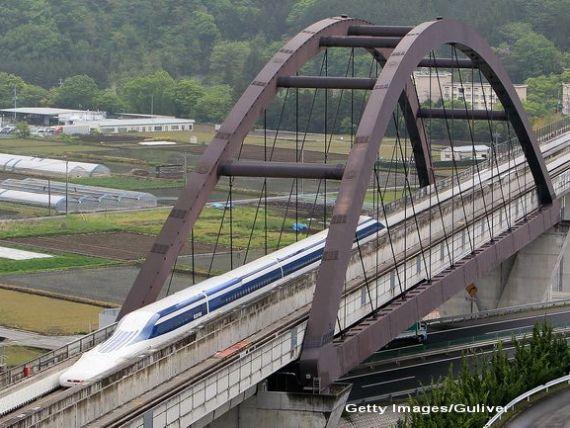 Japonia doboara un nou record de viteza pe calea ferata: peste 600 km/ora