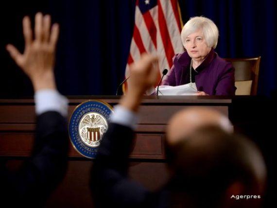 Fed: SUA ar putea anunta in 2015 prima majorare a dobanzii din ultimul deceniu. Yellen: Economia mondiala s-ar putea confrunta cu turbulente majore din cauza Greciei