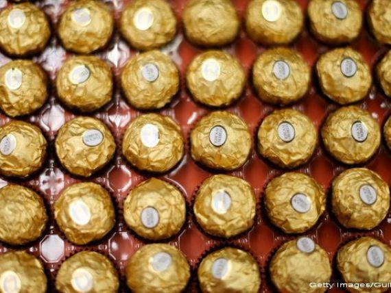 Ferrero pune pe masa 178 mil. dolari pentru a cumpara producatorul britanic de ciocolata Thorntons