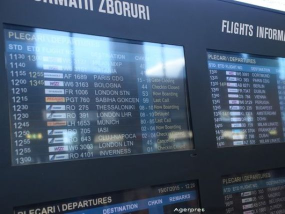 Crestere cu 11,43% a numarului de pasageri care au tranzitat aeroporturile Henri Coanda si Aurel Vlaicu, in primele 9 luni