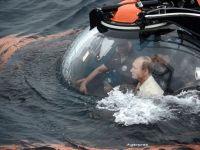 Putin s-a scufundat intr-un batiscaf, in Marea Negra, in Crimeea