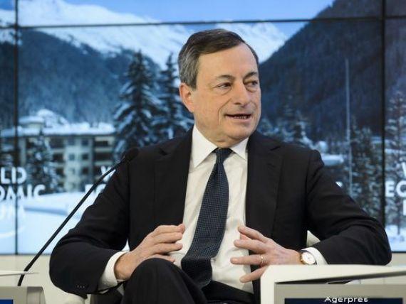 Davos. Mario Draghi: Refugiatii vor stimula cresterea economiei zonei euro