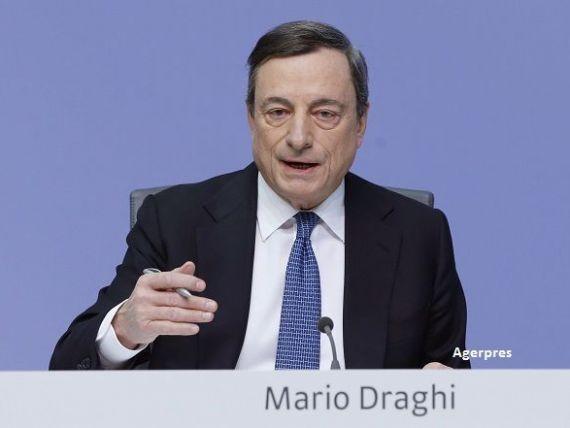 BCE pastreaza dobanda cheie la nivelul zero si continua sa pompeze bani in zona euro, pentru relansarea economiei