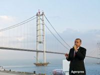Osman Gazi, unul dintre cele mai lungi poduri suspendate din lume, a fost inaugurat in Golful Izmit. Cum arata megaproiectul care l-a costat pe Erdogan 9 mld. dolari