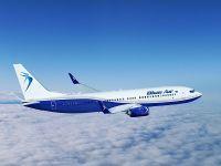 Anunțul Blue Air în legătură cu aparatele Boeing 737 MAX 8, care urmează să intre în flota companiei