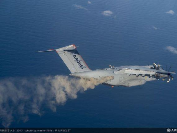 Avionul militar de transport A400M a  rapus  Airbus. Profitul net al gigantului aerian a scazut cu 66%, in 2016