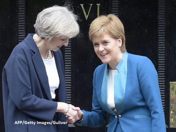 Se adanceste prapastia dintre Scotia si Regatul Unit. Theresa May si Nicola Sturgeon si-au adresat cuvinte dure, in legatura cu independenta tarii