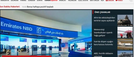 Publicaţia turcească Dunya va lansa un supliment despre relaţiile economice dintre România şi Turcia