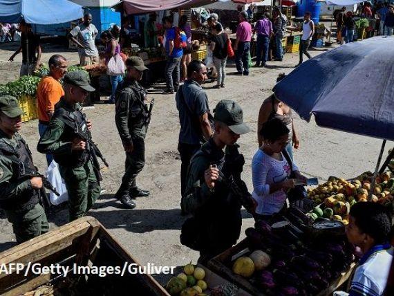 Țara în care piețele sunt păzite de militari înarmați, care se  războiesc  cu prețurile. FMI previzionează o inflație de 13.800% în 2018