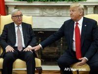 Pace între UE și SUA, în războiul taxelor vamale. Juncker și Trump anunță un acord privind relațiile comerciale. Disputa cu China se întețește