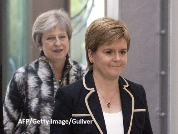 May vs. Sturgeon. Premierul britanic își apără acordul pentru Brexit în regiunea care amenință că se rupe de Regat pentru a rămâne în UE