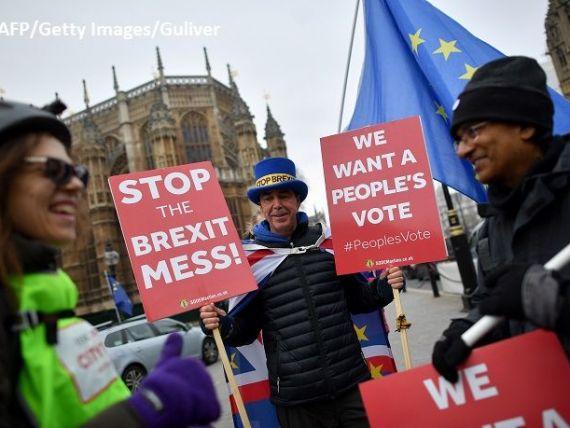 Englezii nu se lasă duși din UE. Britanicii se mobilizează pentru al doilea referendum privind Brexitul