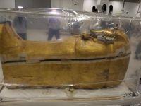 Sarcofagul din lemn aurit al lui Tutankhamon, prezentat pentru prima dată de la descoperirea sa în 1922