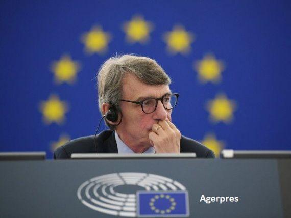 Președintele PE, el însuşi în carantină la domiciliu: Europa nu a mai cunoscut o criză atât de dramatică de la cel de-al Doilea Război Mondial